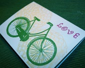 4 Blue Bicycle Love Cards