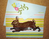 2 Amy Butler and Brown Bunny cards LAST CHANCE