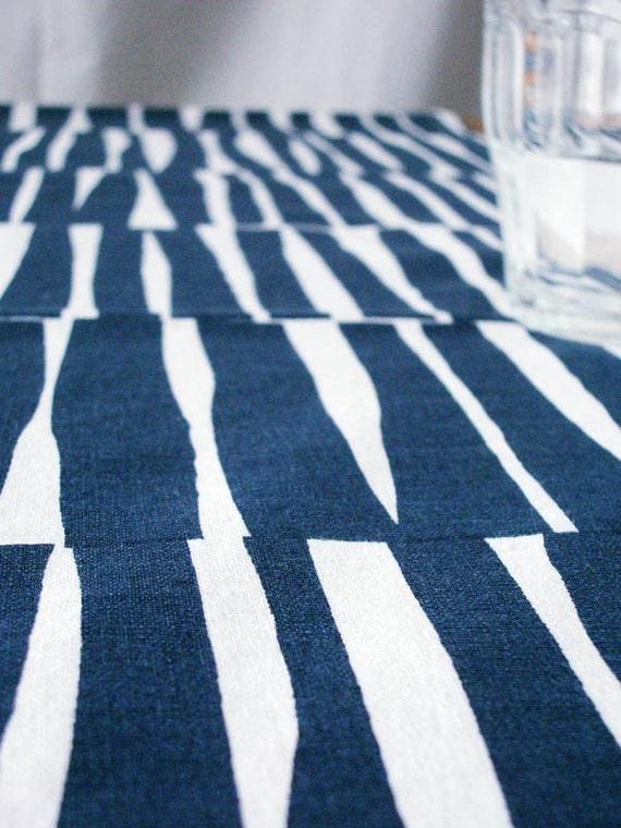 SALE - Table Runner Tatami in Indigo Blue