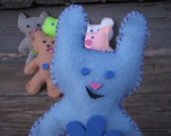 Help a Bunny in Need! Blue Bunny Pal Felt Doll Kit
