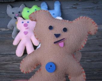 On Sale! Brown Pup Pal Felt Doll Kit