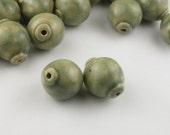 Sage Ceramic Beads