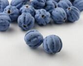 Blue Matte Ceramic Beads