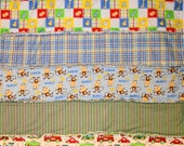 Country rag baby quilt