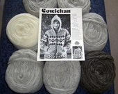 Cowichan SWEATER Knitting Kit Natural Greys WOOL yarn pattern Adult from RaincoastStudio on Etsy