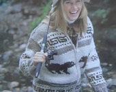 COWICHAN  Sweater Knitting Pattern BEAR Adult from Raincoaststudio on Etsy