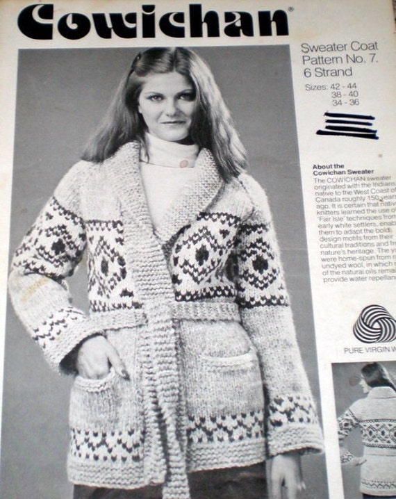 19205e374 Cowichan Jacket pattern by Pierrot Gosyo Co Ltd Knitting
