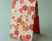 Flip Open Card Case in Coral Asian Floral