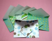 Presentation Envelopes  - Set of Six Cool Blue and Green