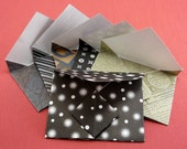 Presentation Envelopes  - Set of Six Black and White