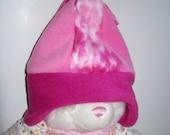 Girls Pink Fleece Hat....Reserved for Lynnette