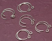 Balled Petite Fancy Sterling Silver Ear wires - 5 pair