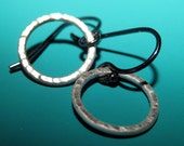 Hammered Circles Contrasting Sterling