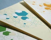 Hexagon Card Set (6 Cards and Envelopes)