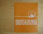 creativity poster print // orange