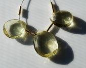 Lemon Quartz Faceted Pear Briolettes, 12-16MM, PK3