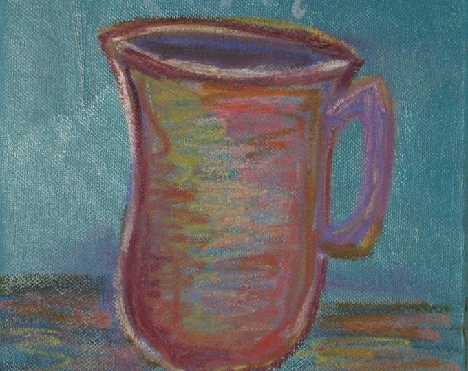 Thanks a latte - Original Painting 8 x 8