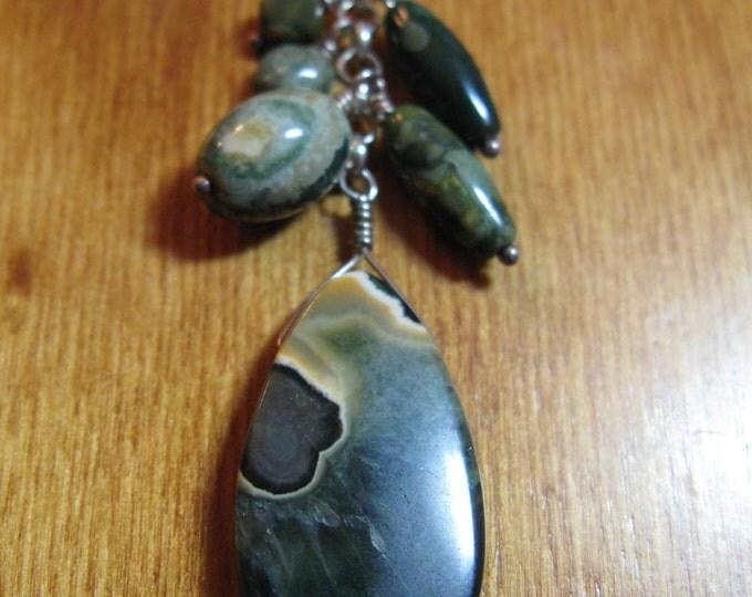 Handmade Green Jasper Mix Necklace