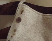SALE   Tan sweater button bag
