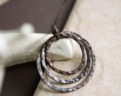 Copper Rings and Sterling Chain necklace
