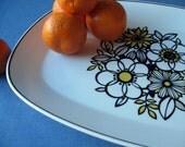 vintage 70's Noritake china oval serving platter
