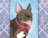 Tiny Watercolor Paintings: Fancy Frenchie