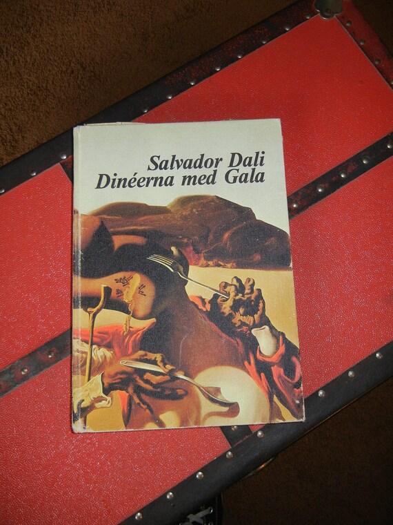 Salvador Dali Cookbook  Dineerna Med Gala Incredibly Rare    FREE SHIPPING
