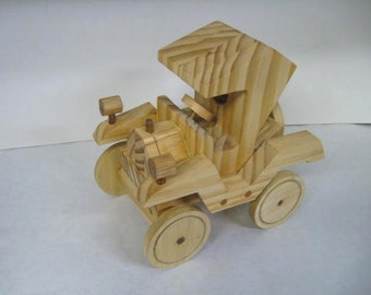 Wood Toy Model T Roadster