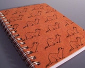 Ferret Spiral Notebook - Ecofriendly - Large Size - You Choose Paper Color - All Wrapped Up Collection