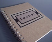 Personalized Spiral Notebook - Recycled Paper