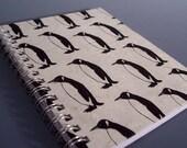 Penguins  Spiral Notebook - Ecofriendly - You Choose Paper Color