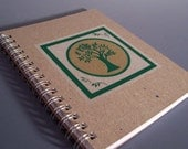 1/2 Off Sale - Tree of Life Spiral Notebook - Large Size - Recycled Paper