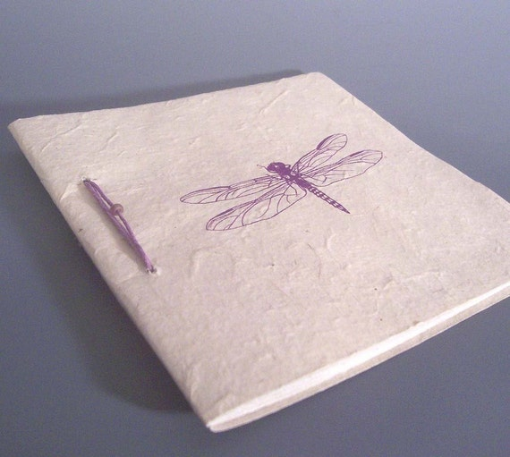 SALE - Dragonfly Journal - Ecofriendly