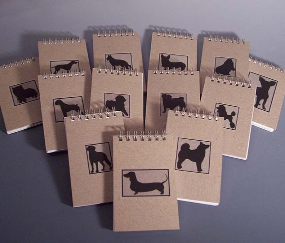 Doggie Pocket Spiral Notebooks - Many Breeds to Choose From - Recycled Paper