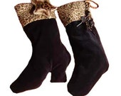 Leopard Christmas Stockings, Leopard Print Stockings - His and Hers set