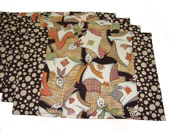 Halloween Napkins, Halloween Placemats, Ghost Placemats