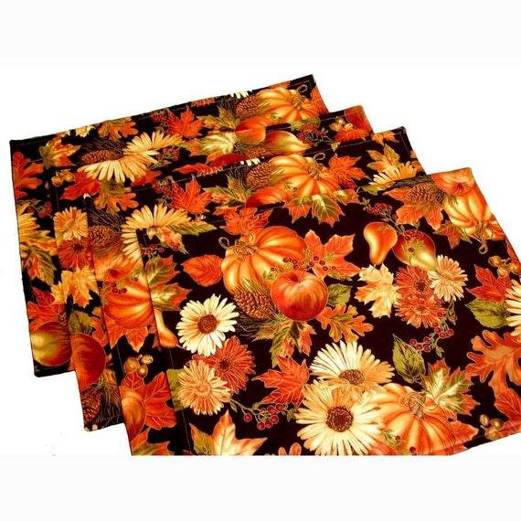 Autumn Napkins Autumn Placemats Thanksgiving Placemats