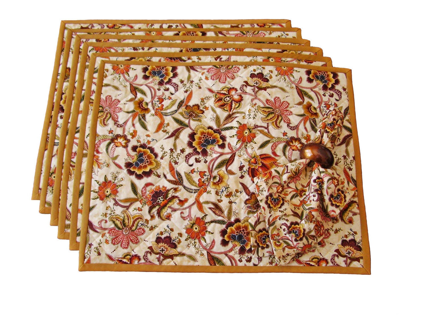 Striped Placemats Floral Placemats Fall Placemats