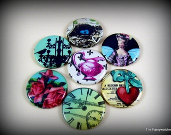 One Inch Flat Back Shabby Chic Buttons, 12 ct.
