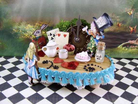 Alice's in Wonderlands Miniature Tea Party Table