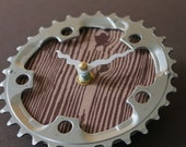bicycle clock - small wood