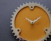 bicycle clock - mustard yellow