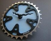 blue sky recycled bike clock