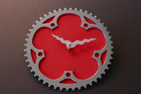 st. pierre tomato recycled bike clock