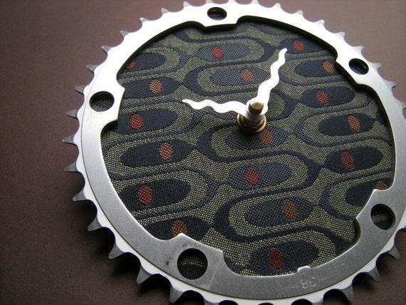modern film recycled bike clock