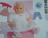 AMERICAN GIRL DOLL Clothes Pattern McCalls 4338, Bitty Baby, Baby Doll Clothes , Uncut