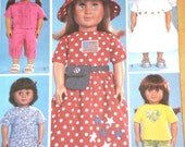 Doll Clothes American Girl  Doll Pattern Blouse Pants Dress Bridal Gown and Veil New UNCUT BUTTERICK 3875