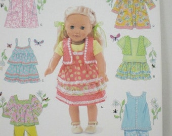18 inch Doll Clothes Pattern Simplicity 2296 Modern Look  New this Year