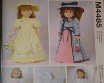 american girl doll clothes 18 inch doll clothes pattern McCalls 4485, Gotz, Best Friends Uncut