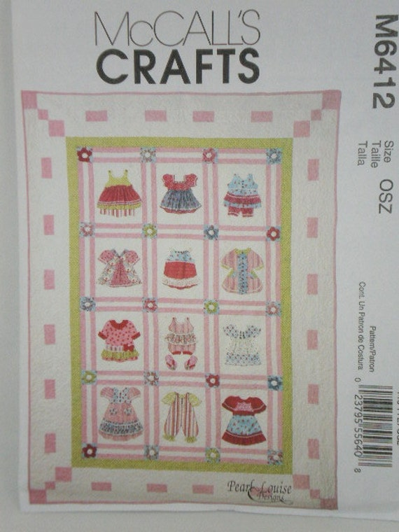 Baby Quilt Patterns Mccalls : Items similar to MCCALLS 6412 pattern Pearl Louise DIMENSIONAL Baby Quilt Patchwork Applique ...